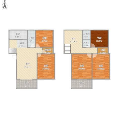万欣花园5室2厅2卫1厨191.00㎡户型图