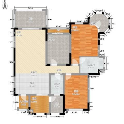 蓝光十里蓝山别墅2室1厅2卫1厨168.00㎡户型图