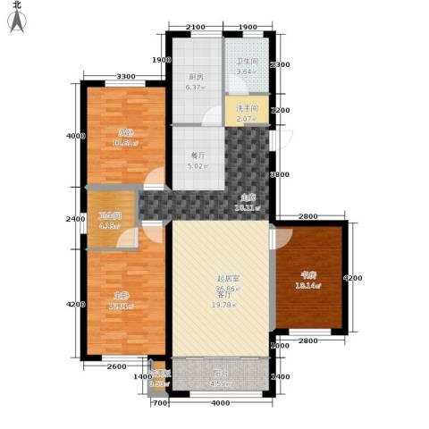 中红一品3室0厅2卫1厨129.00㎡户型图