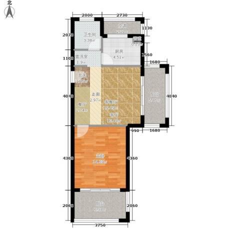 嵊泗天悦湾滨海度假村1室1厅1卫1厨65.00㎡户型图