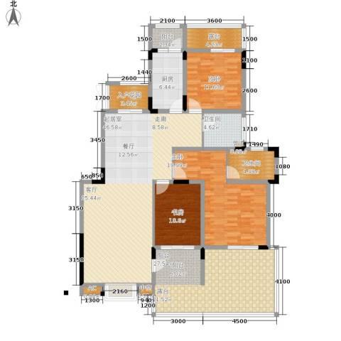 美每家南滨上院3室0厅2卫1厨143.23㎡户型图
