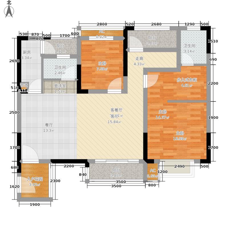 金科开州财富中心109.38㎡一期4号楼标准层D1户型