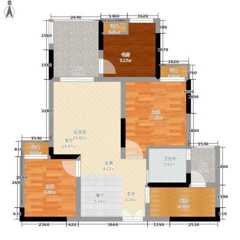 金科云湖天都3室0厅1卫1厨74.00㎡户型图