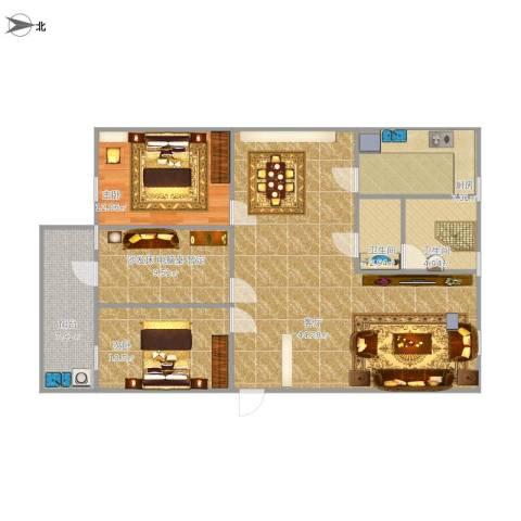 桃园社区2室1厅2卫1厨133.00㎡户型图