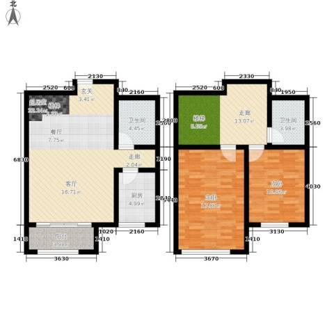 壹城公馆2室0厅2卫1厨105.00㎡户型图