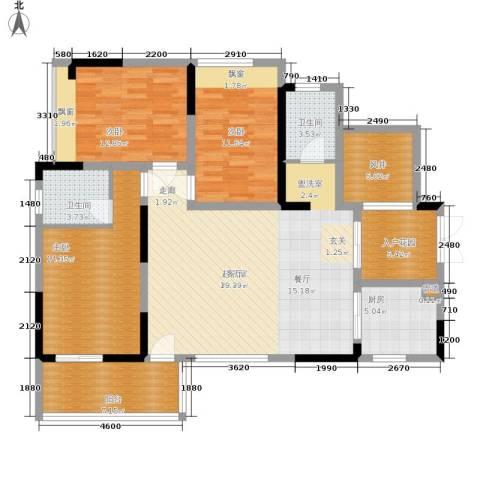 中瓯璧河名都3室0厅2卫1厨125.00㎡户型图