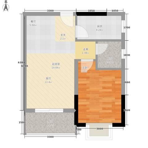 布克公馆1室0厅0卫1厨44.00㎡户型图