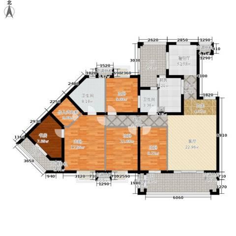 招商江湾城5室1厅2卫1厨170.00㎡户型图