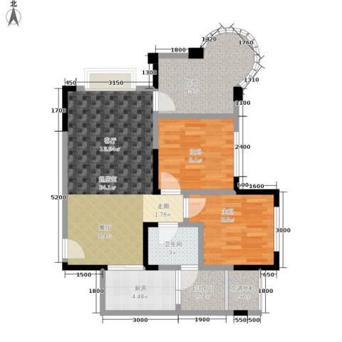 银翔城2室0厅1卫1厨80.00㎡户型图