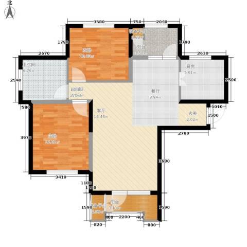 泽天下2室0厅1卫1厨101.00㎡户型图