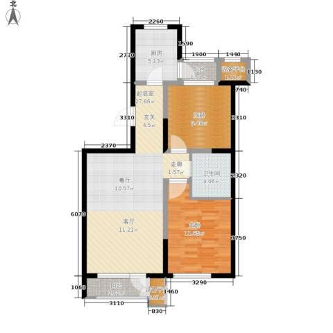 泽天下2室0厅1卫1厨91.00㎡户型图