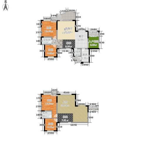 华宇西城丽景4室1厅3卫1厨161.95㎡户型图