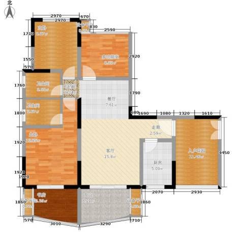 瀛嘉帝逸城3室0厅2卫1厨104.00㎡户型图