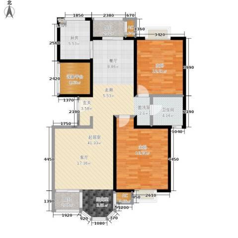 合生城邦三街坊2室0厅1卫1厨102.00㎡户型图