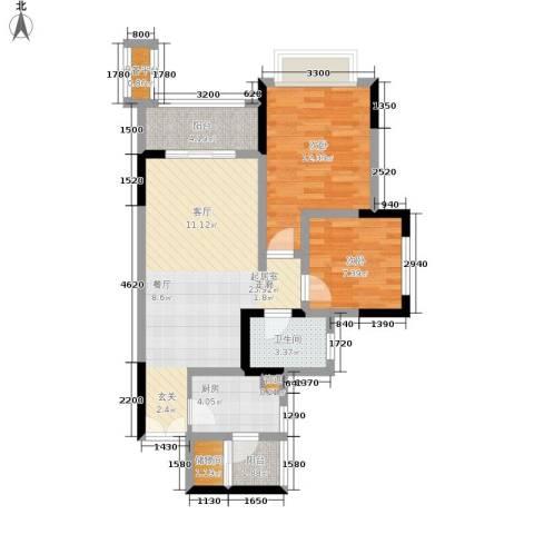 宝嘉花漫山2室0厅1卫1厨158.00㎡户型图