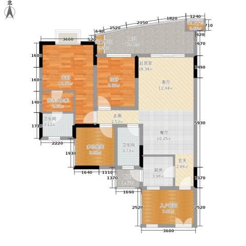 瀛嘉帝逸城2室0厅2卫1厨117.00㎡户型图
