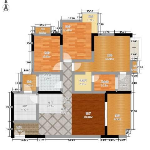 天生丽街3室1厅2卫1厨104.00㎡户型图