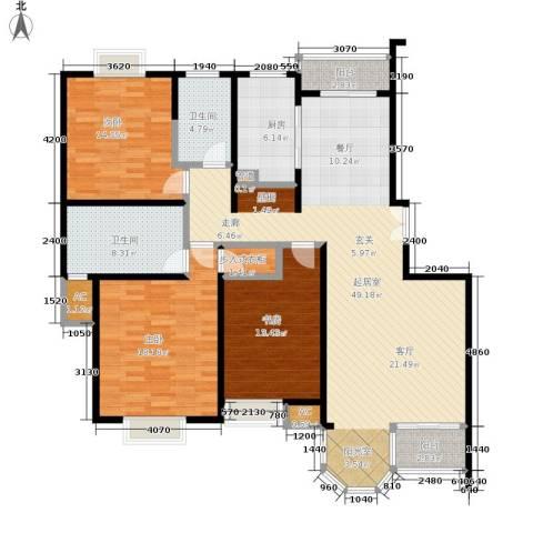 合生城邦三街坊3室0厅2卫1厨139.00㎡户型图