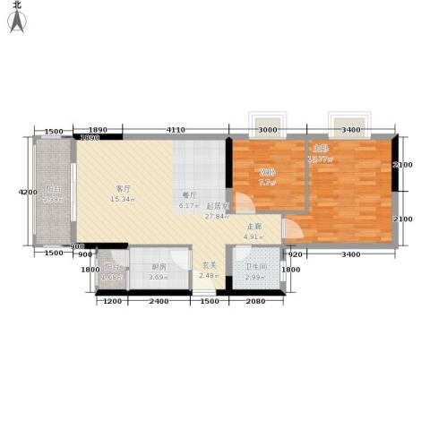 布克公馆2室0厅1卫1厨63.06㎡户型图