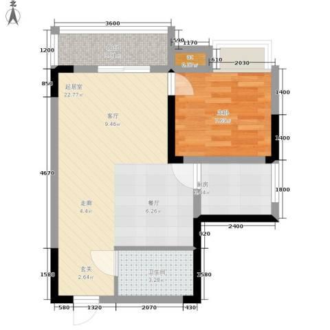 心巢宜家1室0厅1卫1厨44.00㎡户型图