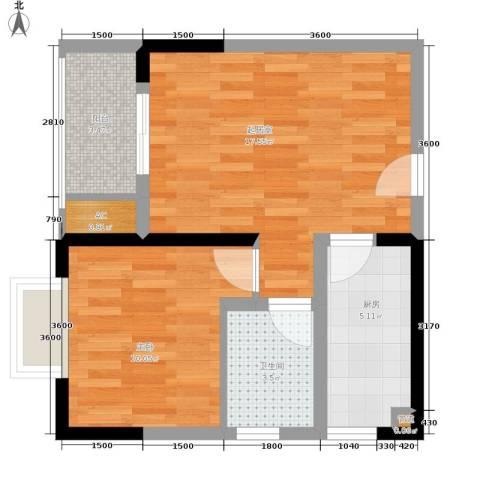 一城龙洲1室0厅1卫1厨45.00㎡户型图