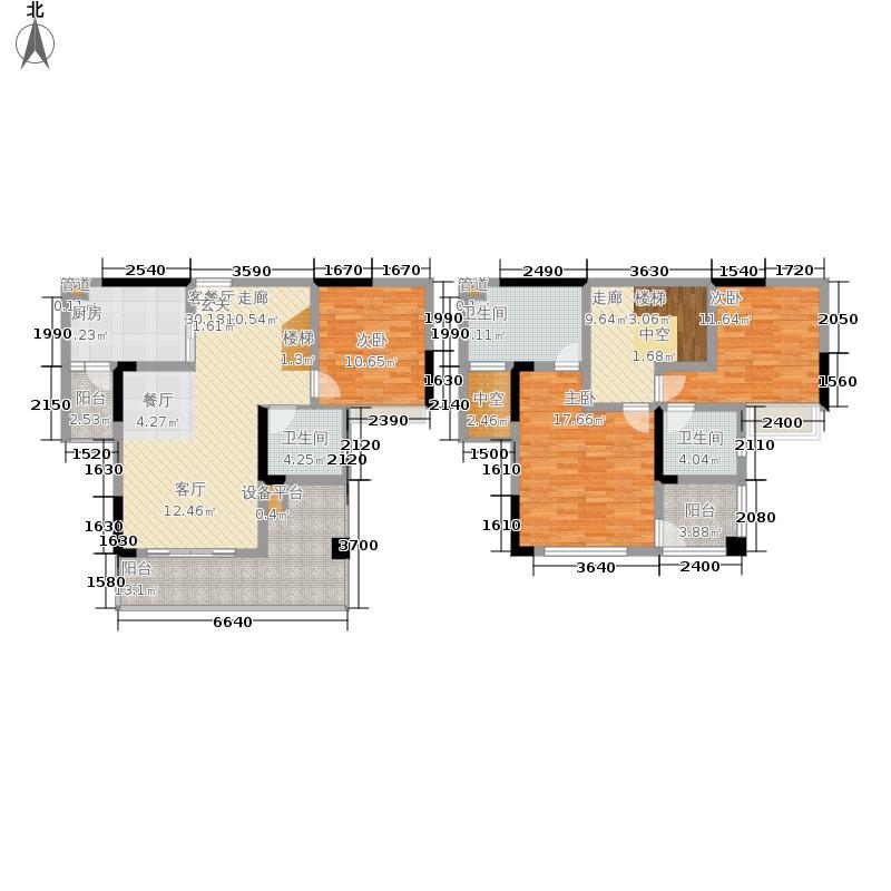 泰吉滨江二期岭澜128.48㎡一期C3、C4栋标准层4号房(售完)户型