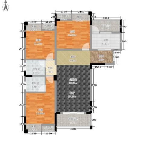 海宇西苑3室0厅2卫1厨109.00㎡户型图