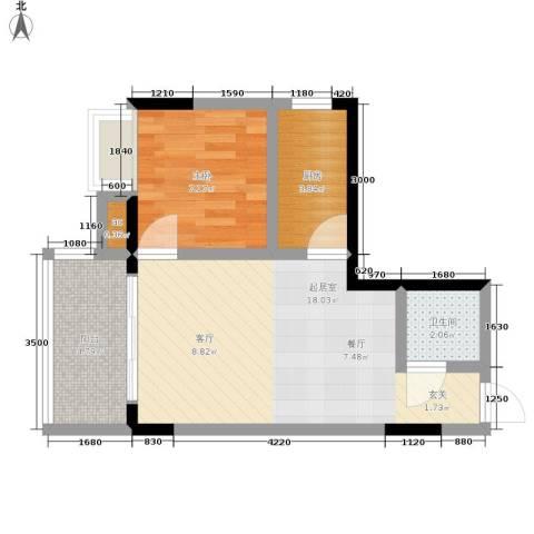 心巢宜家1室0厅1卫1厨39.00㎡户型图