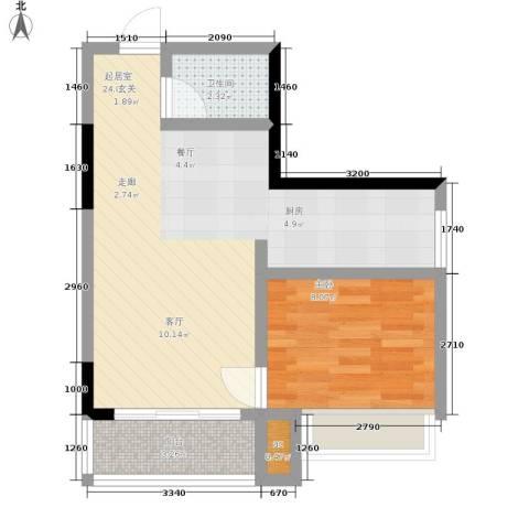 心巢宜家1室0厅1卫0厨42.00㎡户型图