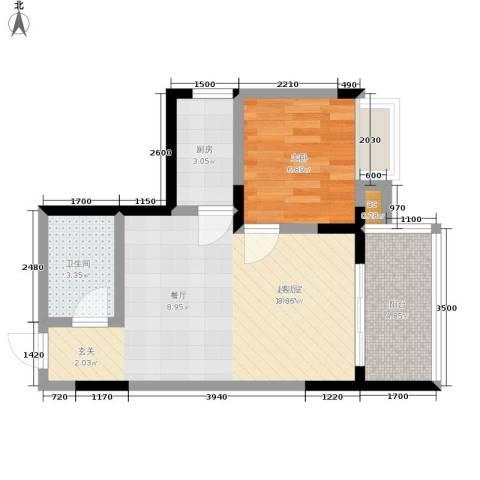 心巢宜家1室0厅1卫1厨41.00㎡户型图