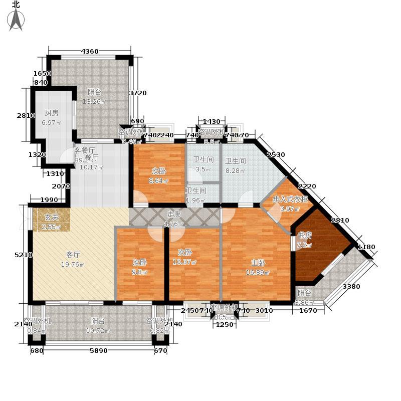 招商江湾城168.00㎡1-2A2面积16800m户型