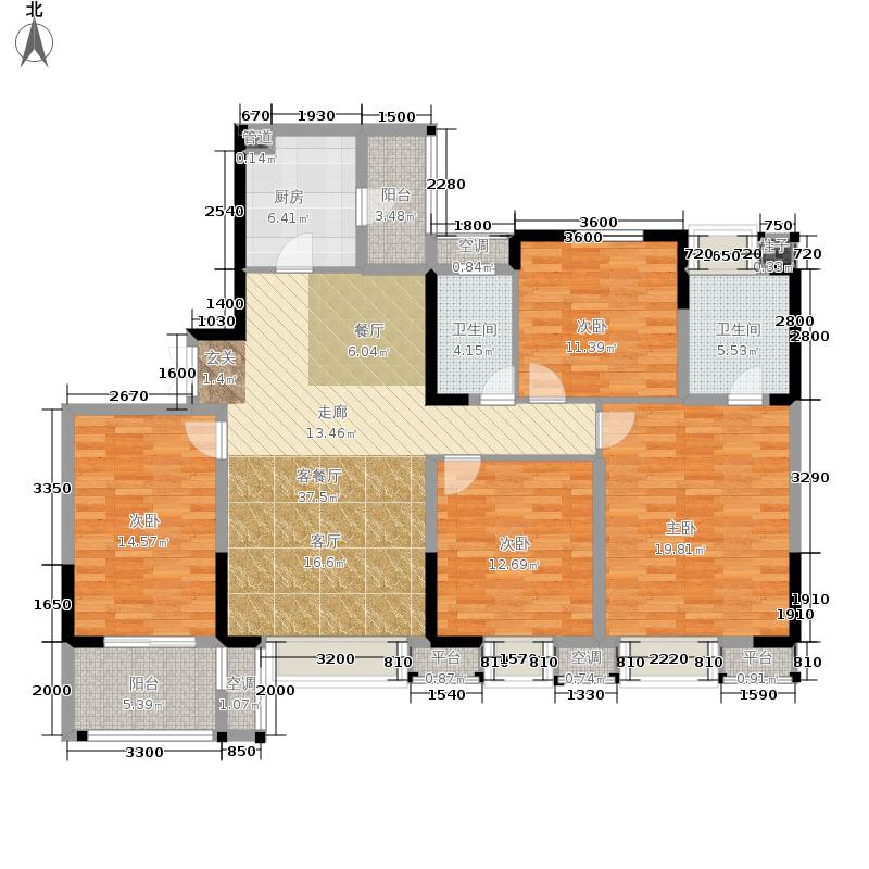 招商江湾城131.00㎡3期9号楼标准面积13100m户型