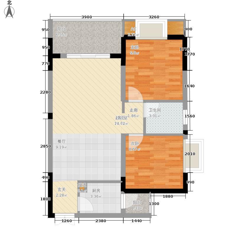 顺祥壹街区64.83㎡一期A5栋标准面积6483m户型