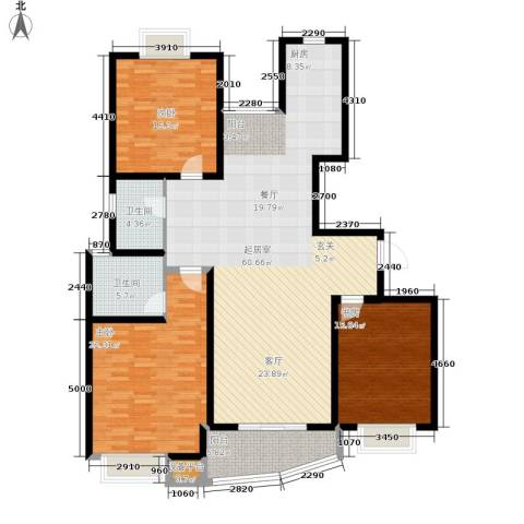 白玉兰花园3室0厅2卫0厨146.79㎡户型图