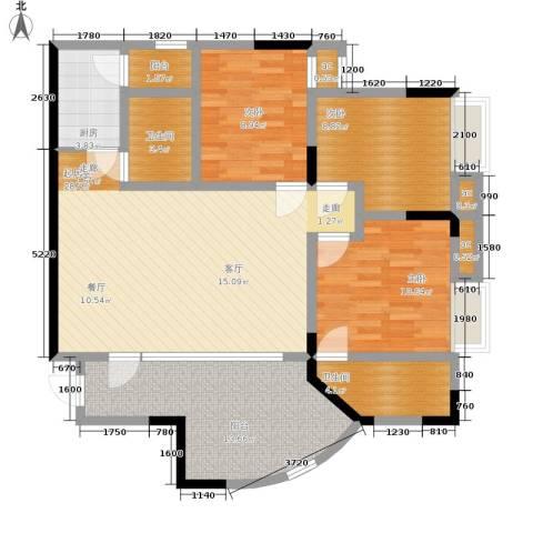 心巢宜家3室0厅2卫1厨88.00㎡户型图