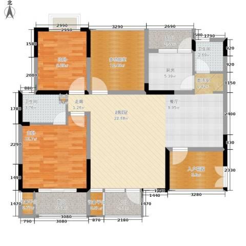 瀛嘉帝逸城2室0厅2卫1厨111.00㎡户型图