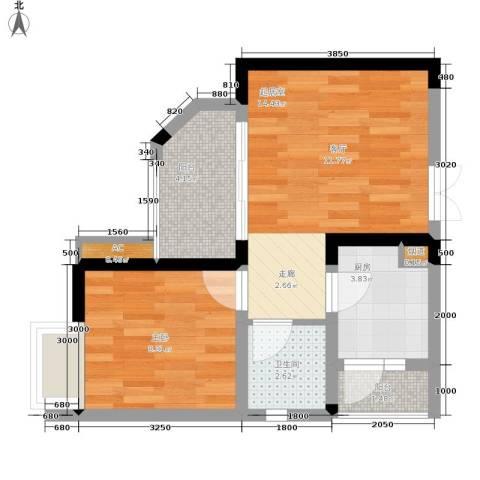 顺祥壹街区1室0厅1卫1厨38.00㎡户型图