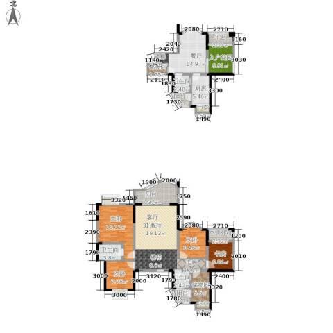 华宇西城丽景4室2厅3卫1厨135.00㎡户型图