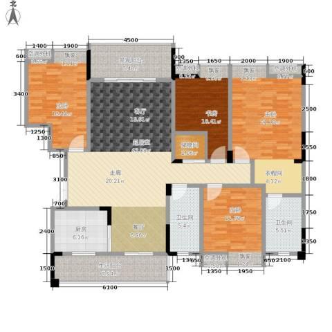 海宇西苑4室0厅2卫1厨160.00㎡户型图