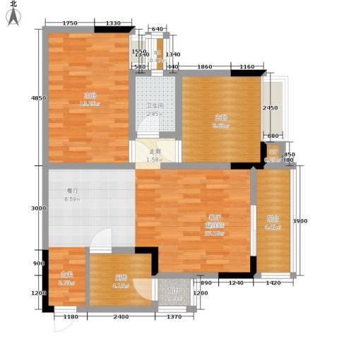 心巢宜家2室0厅1卫1厨68.00㎡户型图