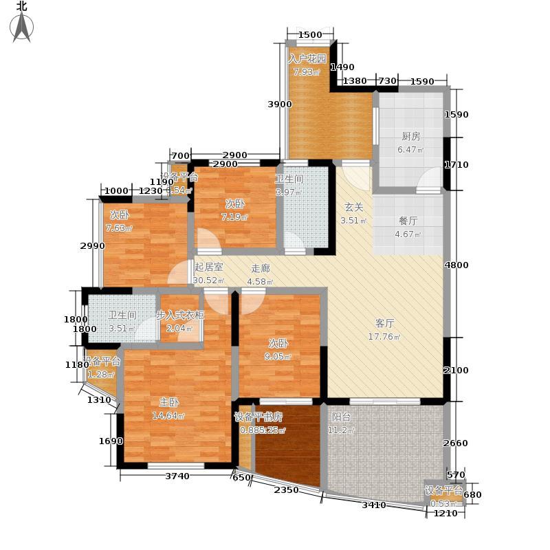 瀛嘉帝逸城128.99㎡二期8、9号楼标准层E1户型