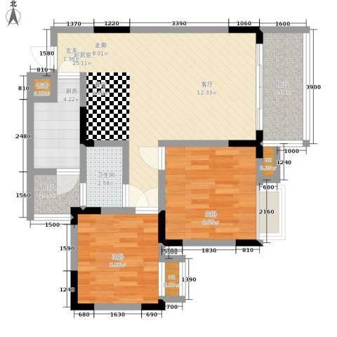 心巢宜家2室0厅1卫1厨63.00㎡户型图
