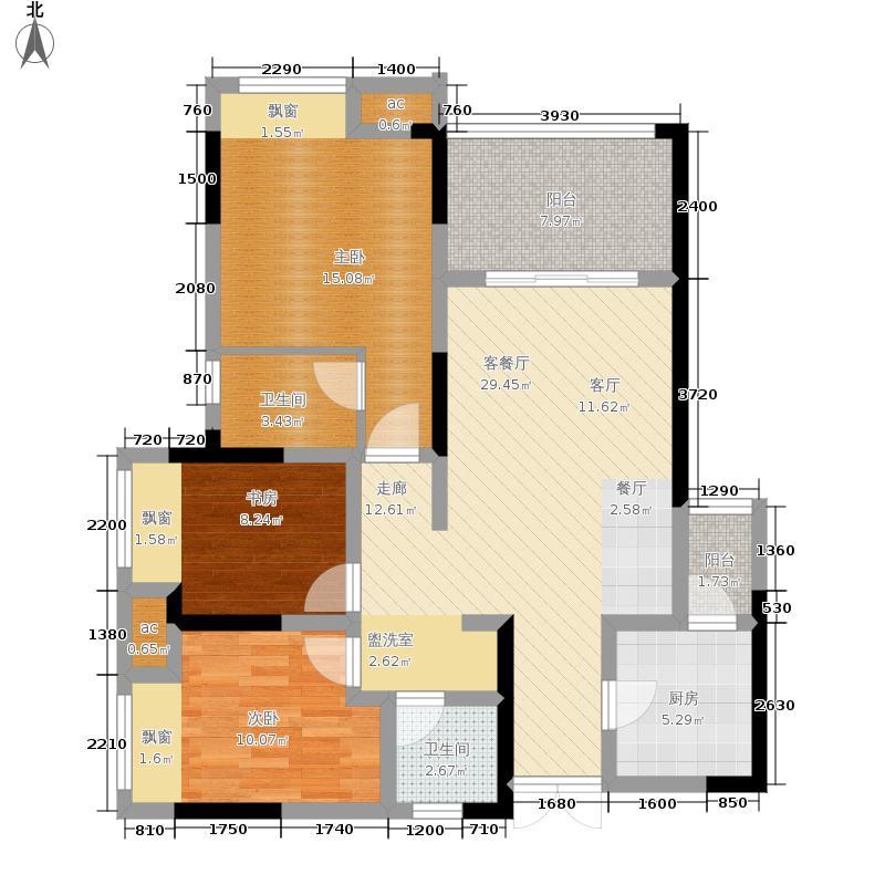 首创光和城83.00㎡二期6/7号楼标准层C6户型