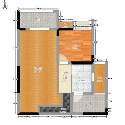 金科开州财富中心1室0厅1卫0厨97.00㎡户型图