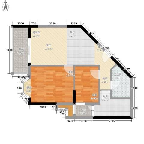 海客瀛洲2室0厅1卫1厨66.00㎡户型图