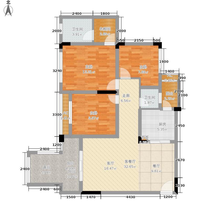 金科开州财富中心109.88㎡一期2号楼标准层A-04户型