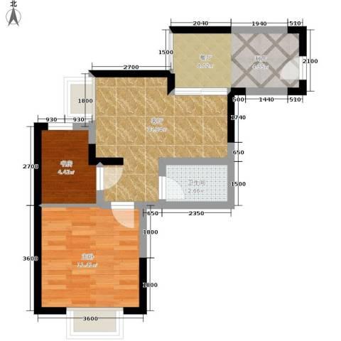 九鼎名都2室2厅1卫0厨45.00㎡户型图