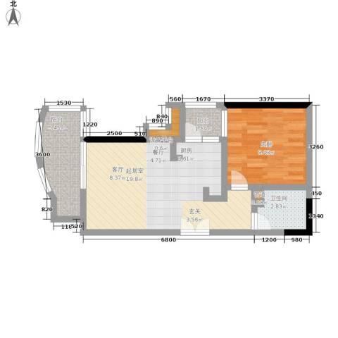 海客瀛洲1室0厅1卫0厨49.00㎡户型图
