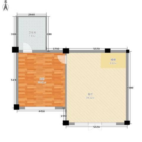 华宇凤凰城1室1厅1卫0厨68.00㎡户型图