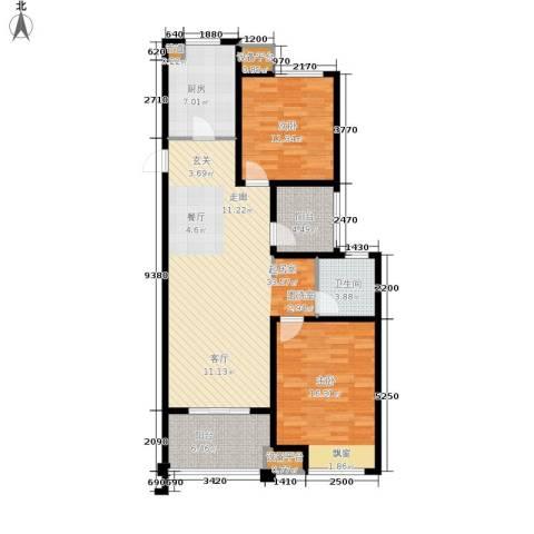 淀湖鹿鸣九里2室0厅1卫1厨95.00㎡户型图